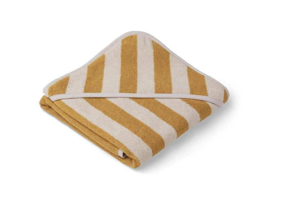 Liewood - Alba hooded towel - Yellow mellow/sandy