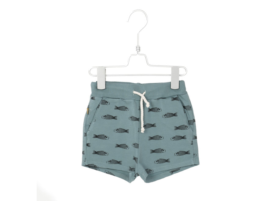 Lotiekids - Shorts Fishes - Blue Grey