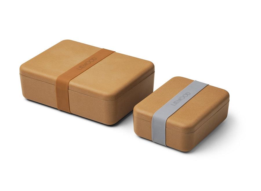 Geboortelijst Bieke - Liewood - Lunch Box Set Bradley - Mustard