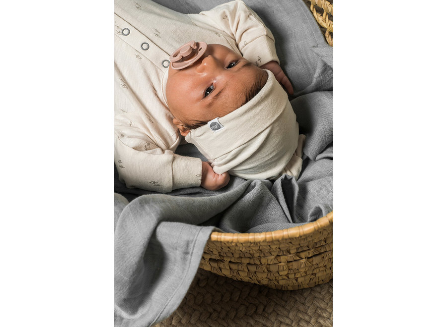 Geboortelijst Sarah - Jollein - Newborn mutsje Forest Off White