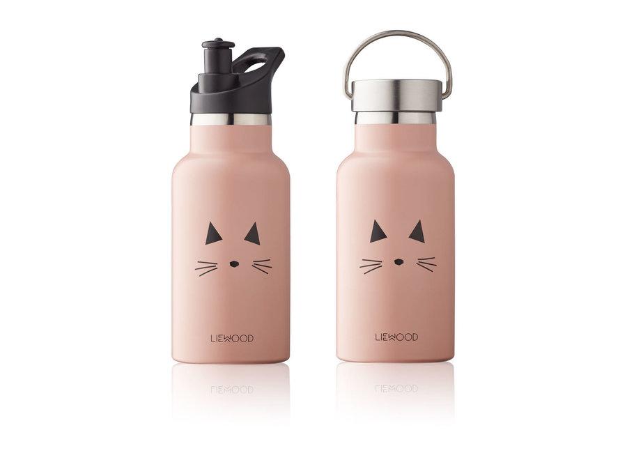 Geboortelijst Sarah - Liewood - Anker bottle Cat Rose Rose