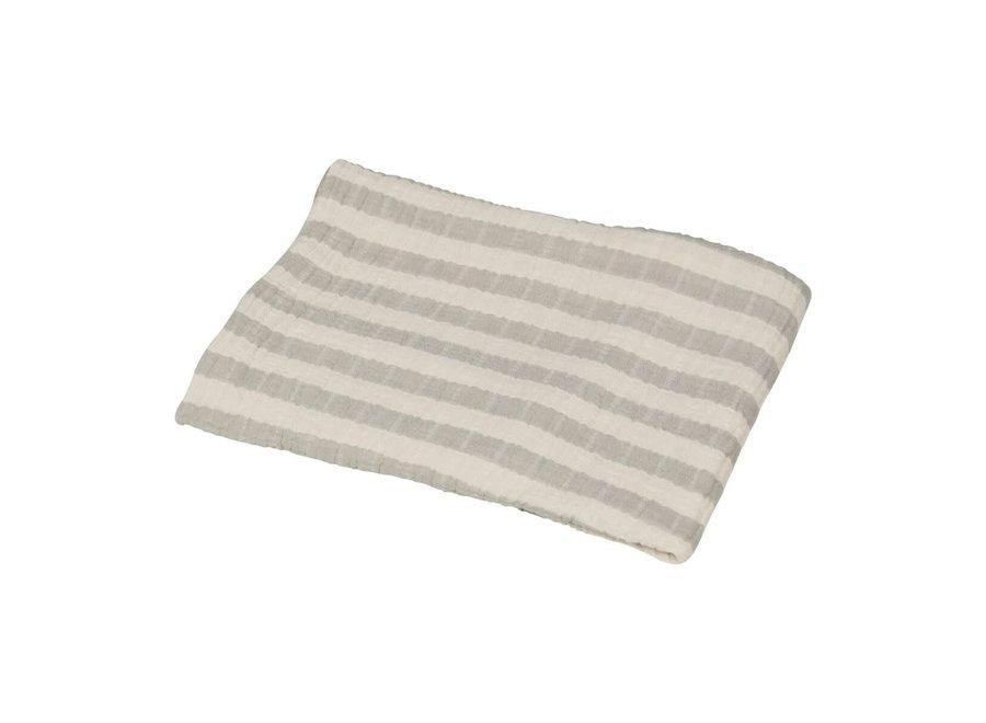 Quax - Natural - Blanket/towel Stripes M - Grey