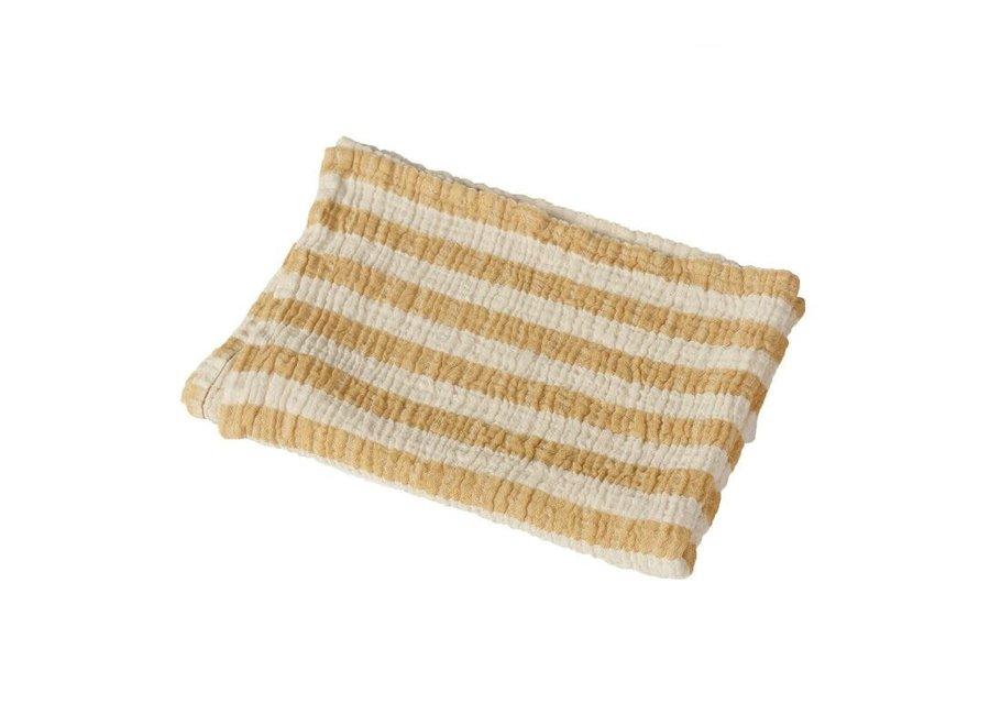 Copy of Quax - Natural - Blanket/towel Stripes M - Grey