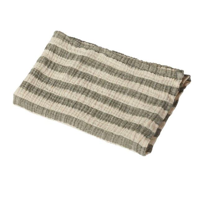 Quax - Natural - Blanket/towel Stripes M - Khaki
