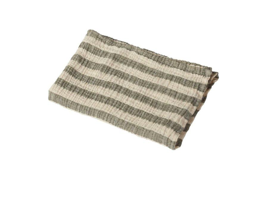 Copy of Quax - Natural - Blanket/towel Stripes M - Saffran