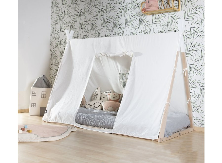 Childhome - Tipi Jeugdbed - Natural / White (90 x 200)