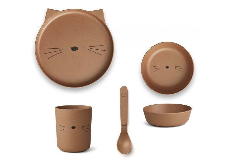 Liewood - Bamboo Box - Cat Terracotta