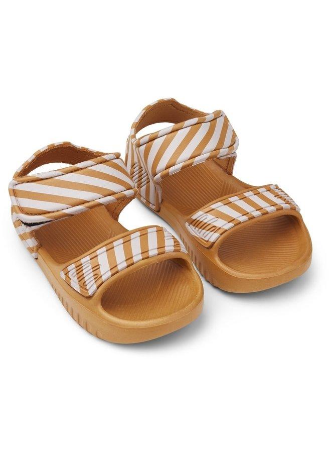 Liewood - Blumer Sandals Mustard Stripe