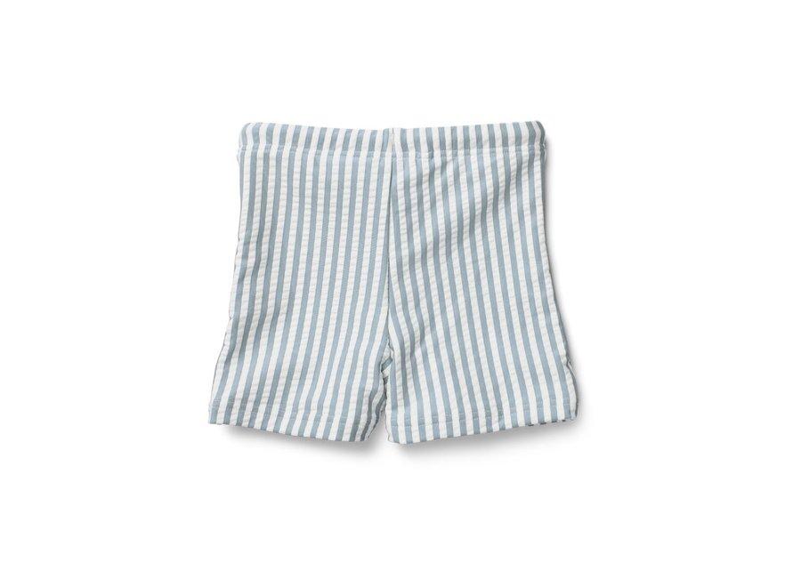 Liewood - Otto Swim Pants - Sea Blue / White