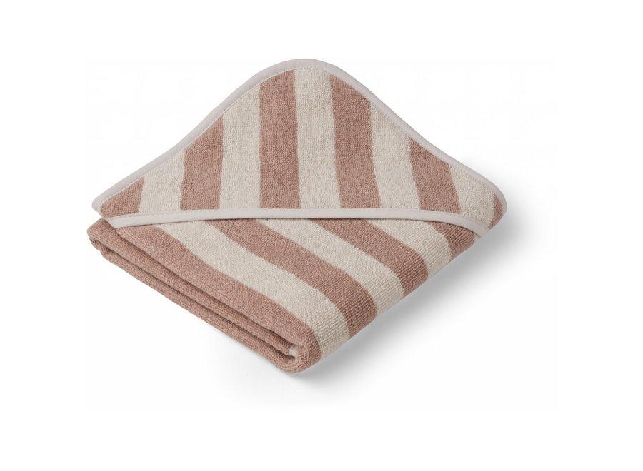 Geboortelijst Aagje - Liewood - Alba hooded towel - Rose/sandy