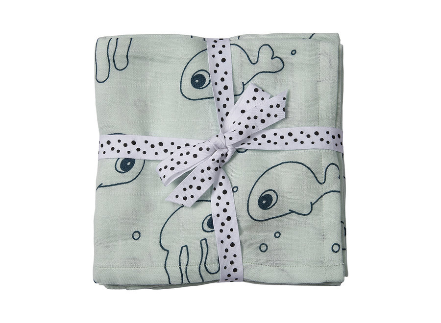 Done By Deer - Cloth Sea Friends - Blue (2-pack)