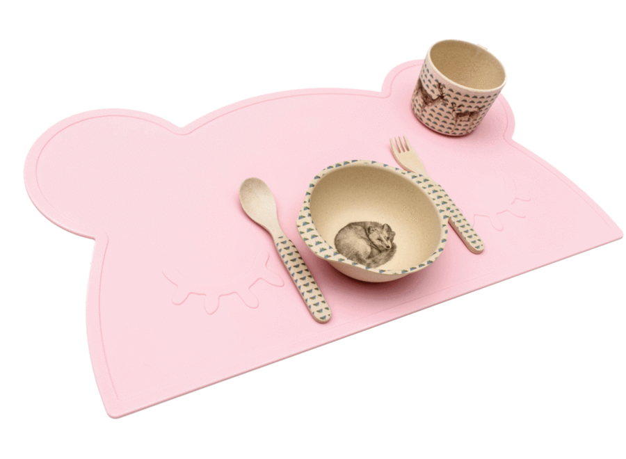 We might be tiny - Placemat Bear Pink