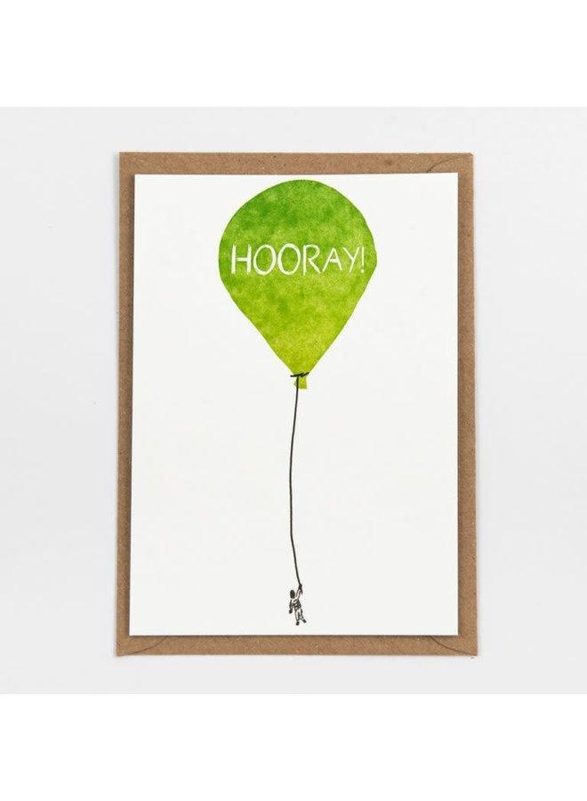 Studio Flash - Kaart Hooray Ballon