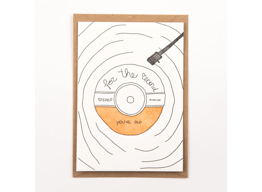 Studio Flash - Card - For the record
