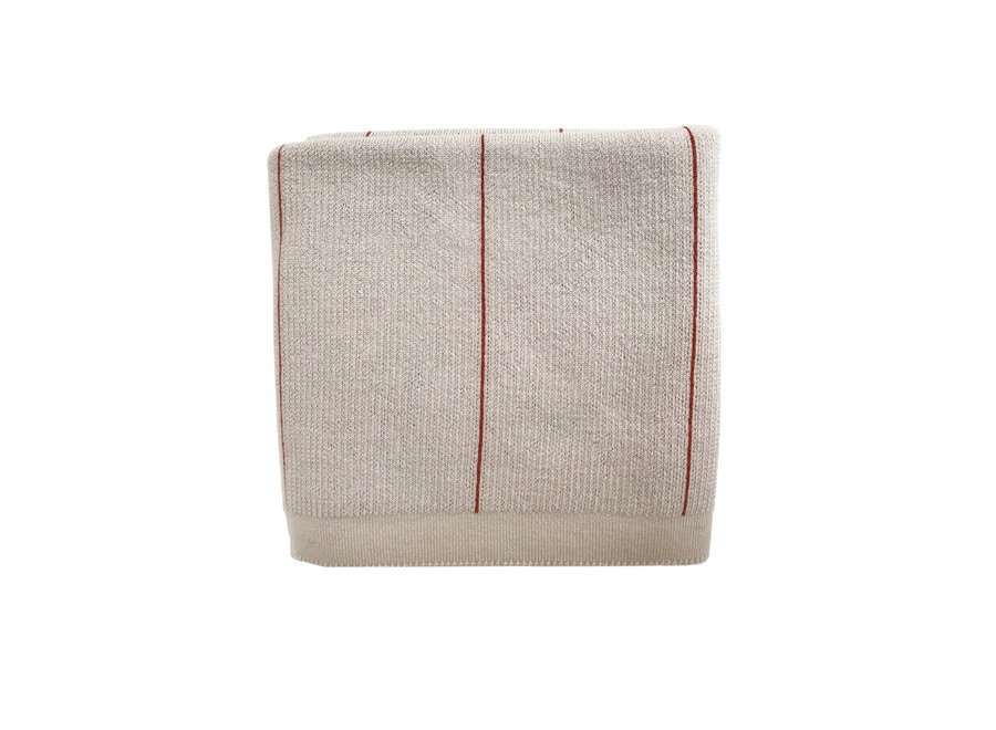 HVID - Blanket Cornelis - Off White / Terra