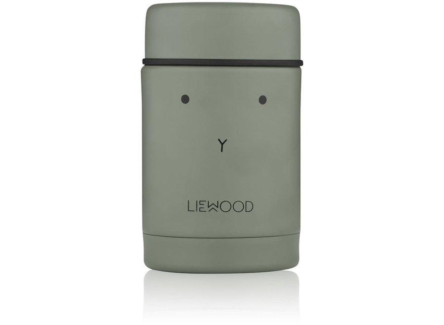 Geboortelijst Lara -  Liewood - Nadja Food Jar - Rabbit Faune Green