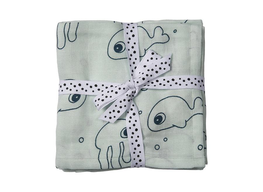 Geboortelijst Lara -  Done By Deer - Cloth Sea Friends - Blue (2-pack)