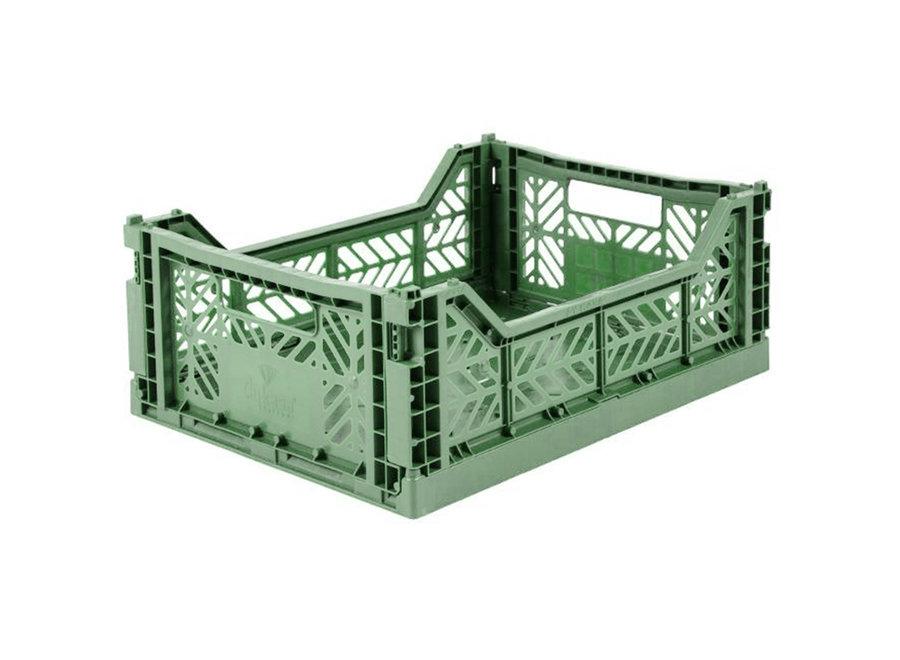 Lillemor - Folding Crate 'Almond Green' - Medium