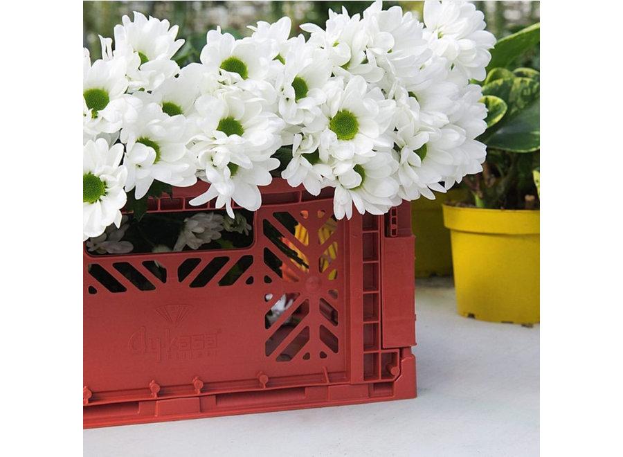 Lillemor - Folding Crate 'Tile Red' - Medium