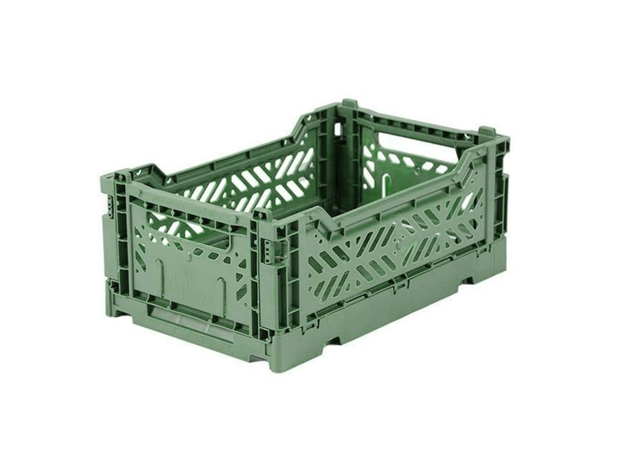 Lillemor - Folding Crate 'Almond Green' - Mini