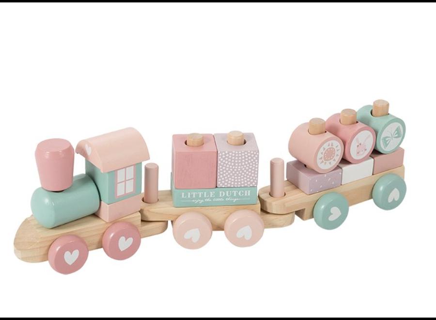 Little Dutch - Blokkentrein - Adventure Pink