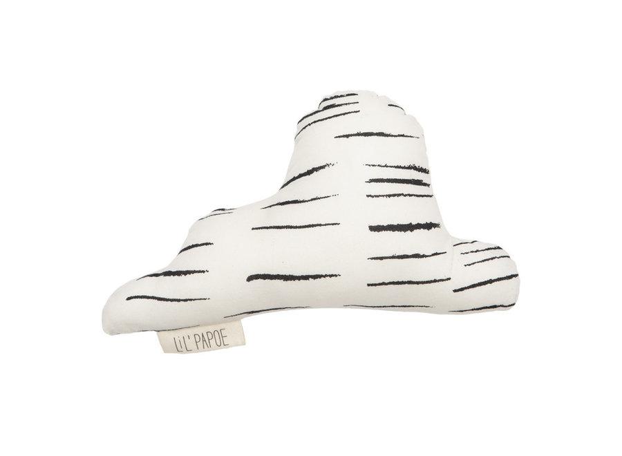 Lil' Papoe - Rattle Cloud - Stripes Black & White