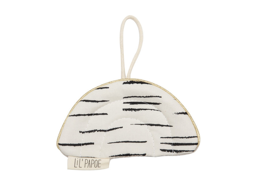 Lil' Papoe - Crackling Rainbow - Stripes Black & White
