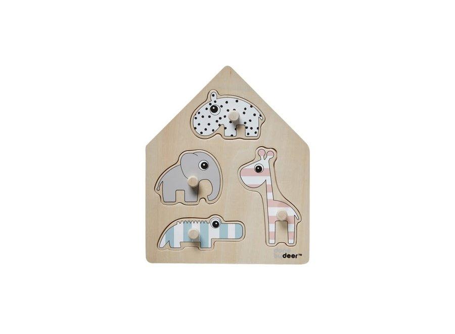 Geboortelijst Annelies - Done By Deer - Peg Puzzle Deer Friends