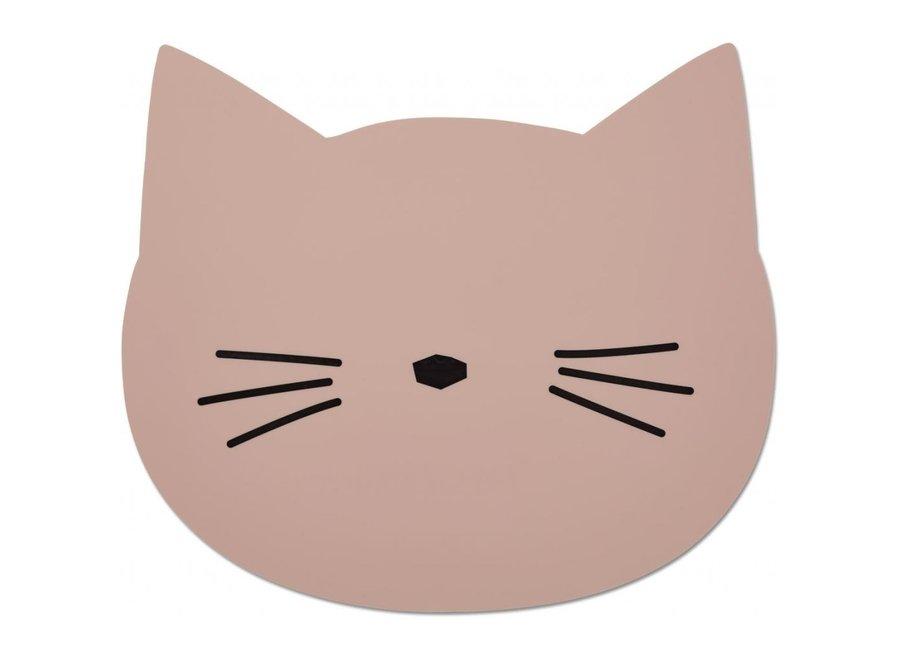 Geboortelijst Annelies - Liewood - Aura Placemat - Cat Rose