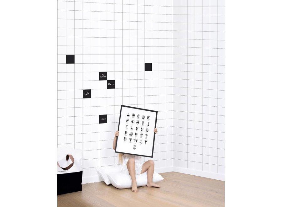 Geboortelijst Carolien - Behangpapier 'Big Tiles'