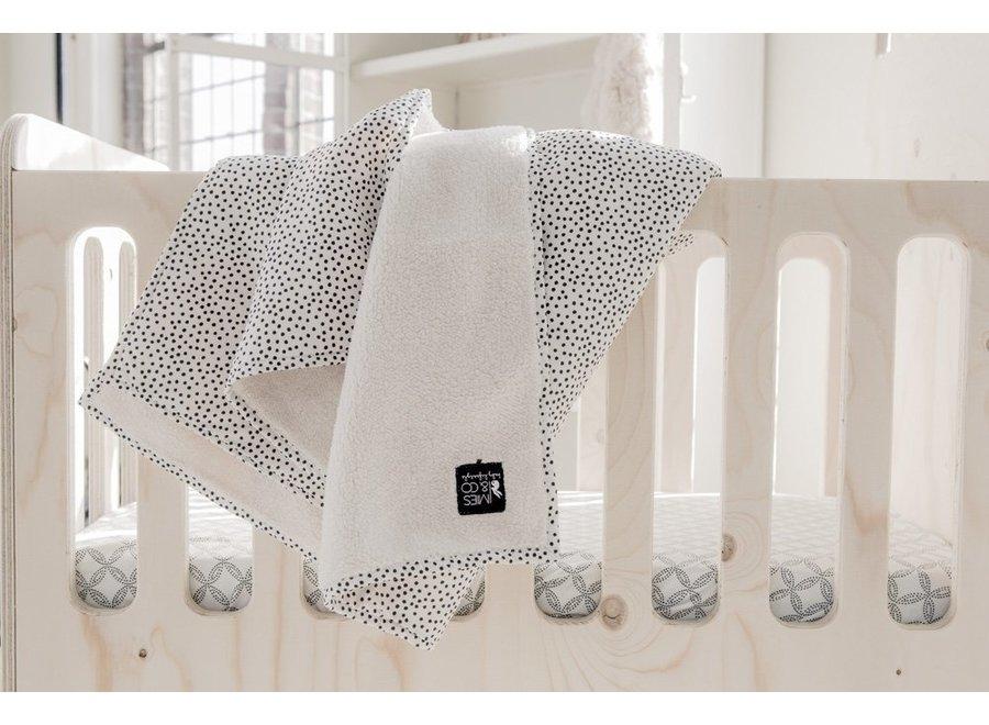 Geboortelijst Annelies - Mies & Co - Soft Teddy Blanket - Cozy Dots 110 x 140 cm (ledikant)