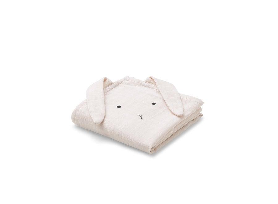 Geboortelijst Annelies - Liewood - Hannah Muslin cloth - Rabbit Rose