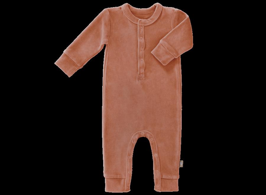 Fresk - Pyjama Velours zonder voet - Ash Rose