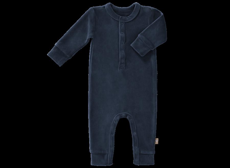 Fresk - Pyjama Velours zonder voet - Indigo