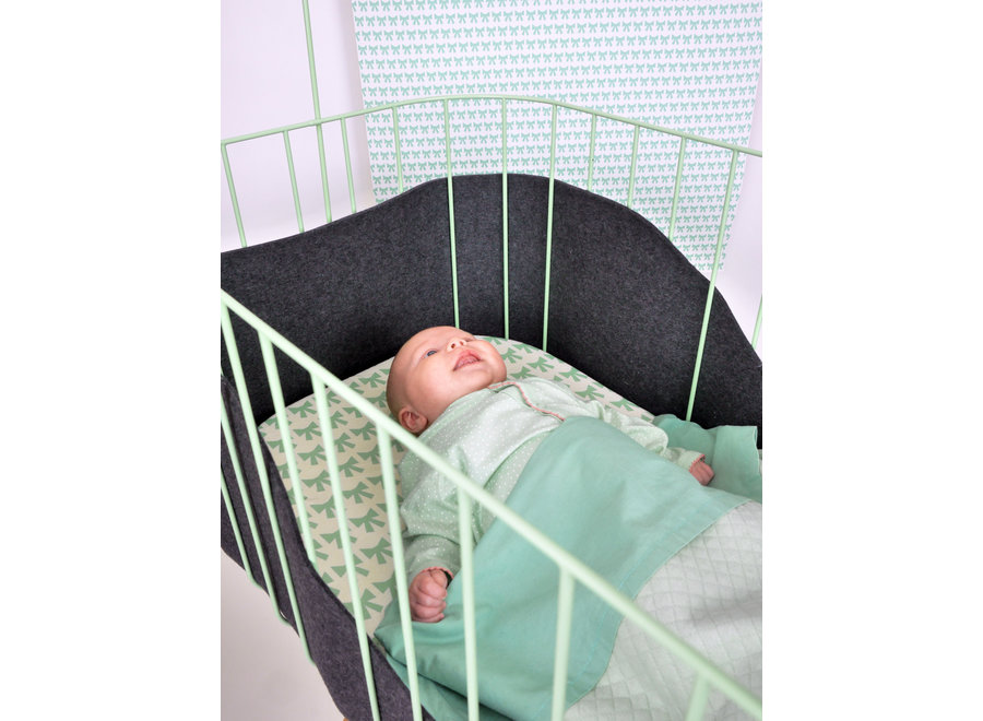 Baby Crib - Mint Green