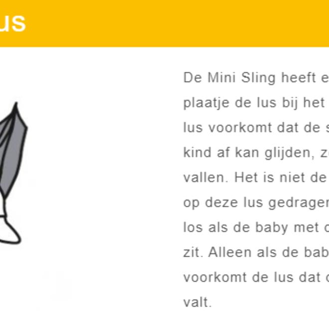 Minimonkey - Mini Sling White