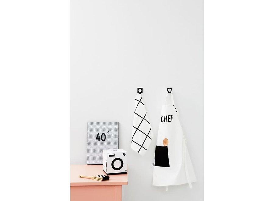 Design Letters Keukenhanddoek + Schort Wit - Kids