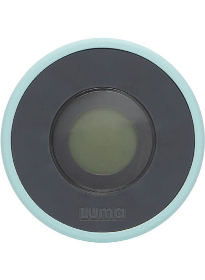 Luma - Digitale badthermometer Silt Green