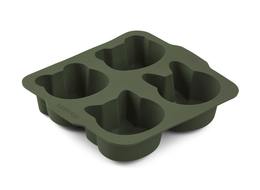 Liewood - Mariam cake pan (2 pack) - Hunter green/mustard mix