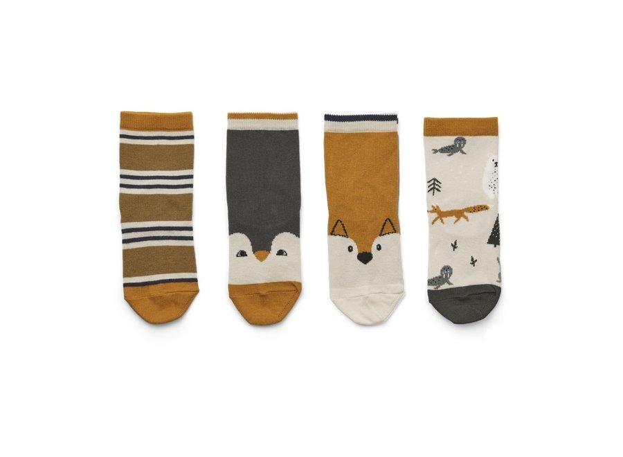 Liewood - Silas Socks (4 pack) - Arctic mix