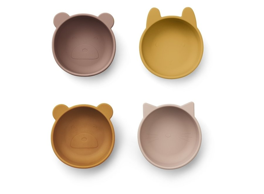 Liewood - Iggy Silicone Bowls - Rose Mix