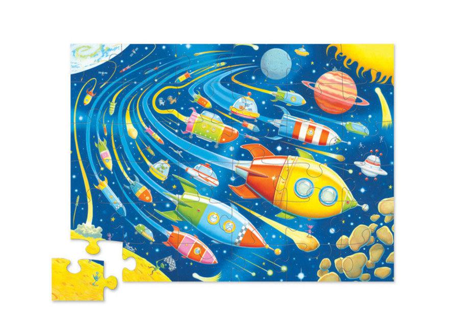 Crocodile Creek - Shaped Puzzle / Space Race