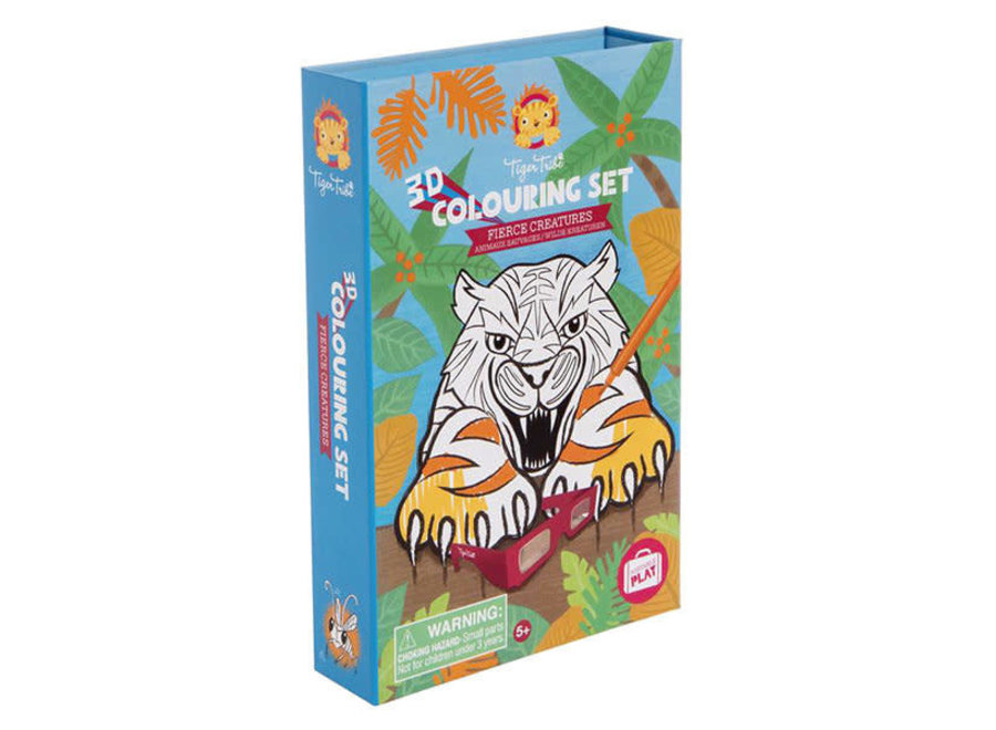 Tiger Tribe - 3D Colouring Sets - Fierce Creatures
