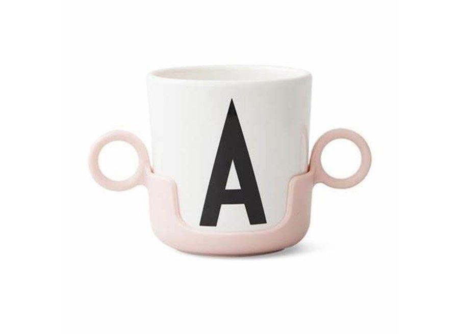 Geboortelijst Annelies - Design Letters - Handle for cup - Pink