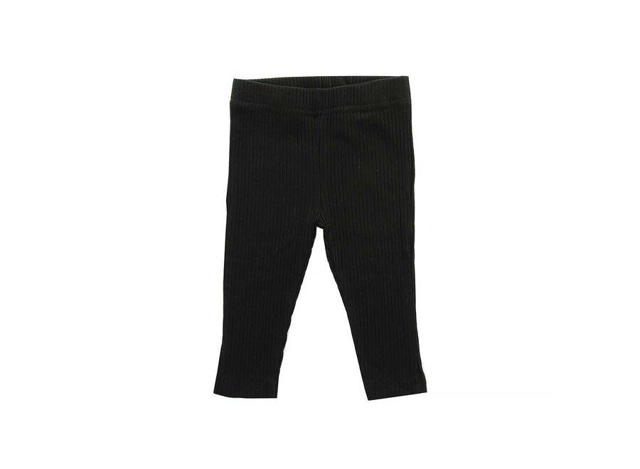 Geboortelijst Serafine - Jollein - Legging Rib black - 62/68