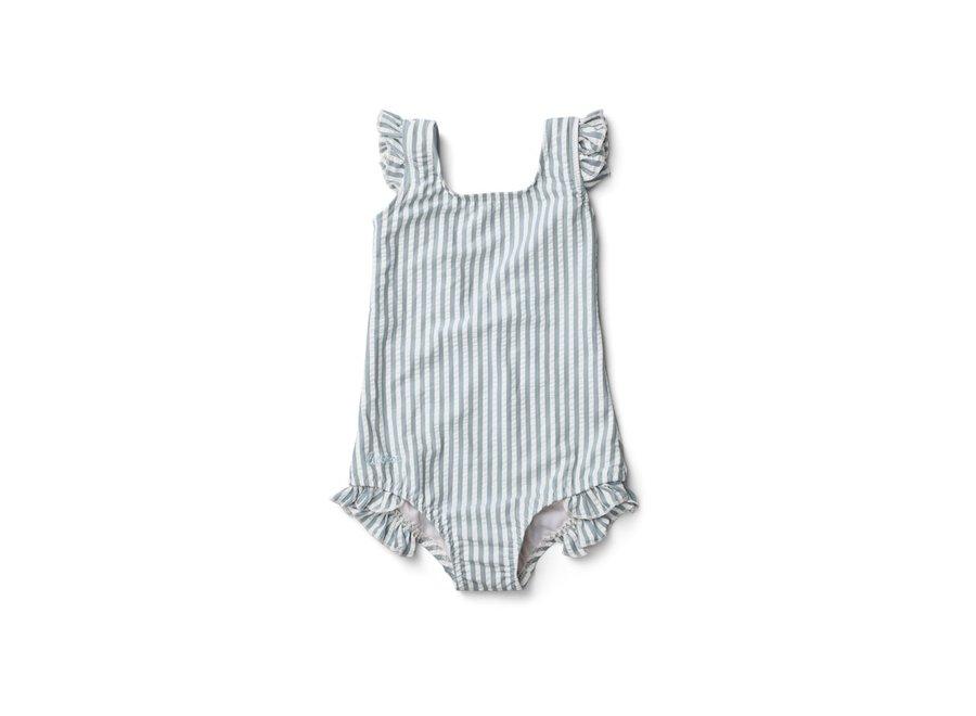 Liewood - Tanna Swimsuit - Sea Blue Stripe