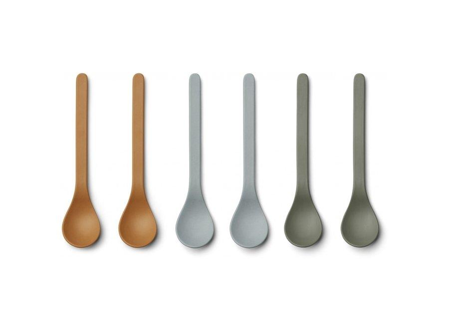 Geboortelijst Mieke - Liewood - Etsu Bamboo Spoon - Blue multi mix