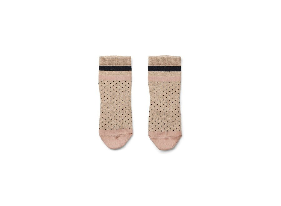 Geboortelijst Annelies - Liewood - Silas Socks 'Little dot gold'