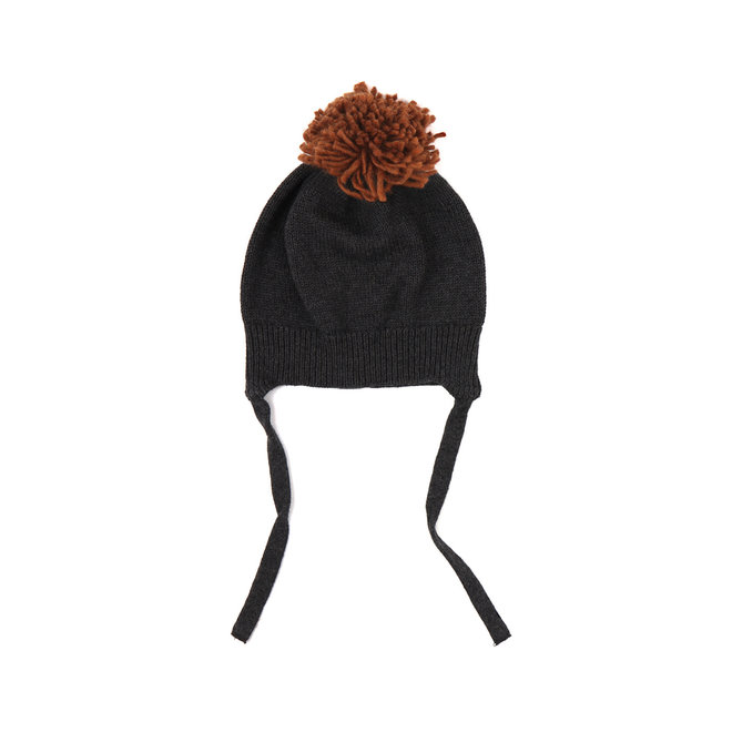 Phil & Phae - Pompon baby hat - Charcoal