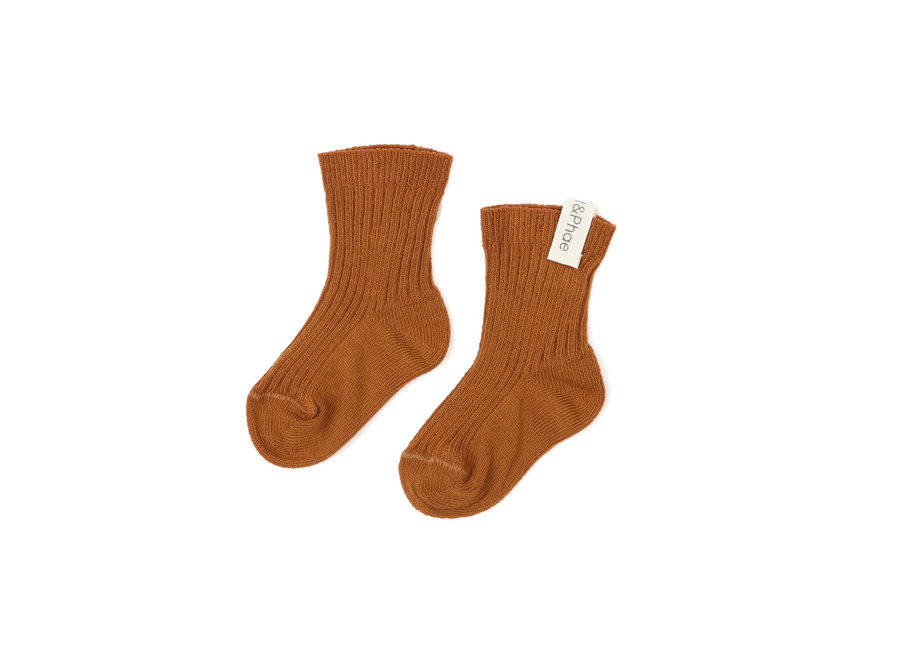Phil & Phae - Ribbed baby socks - Hazel
